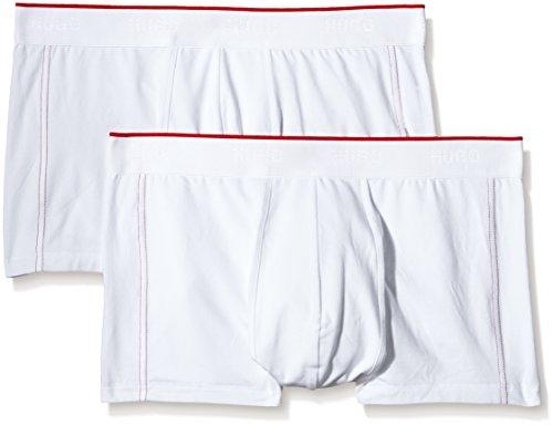 BOSS Herren Boxer SC 2er-Pack HM 10101561 01 Boxershorts, Weiß (White 100), Small (Herstellergröße: S)
