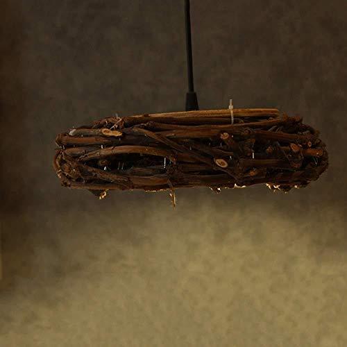 Kronleuchter, Idyllischer Rattan Vogel Kronleuchter Runde Kronleuchter Rattan Handgemachte Bambus Kunst Lampen Restaurant Bar Wohnzimmer Stehtisch Durchmesser 30 cm hoch 10 cm Das gute Leben