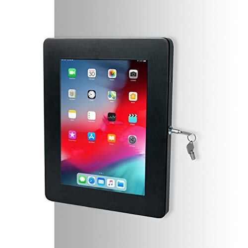 CTA Digital: Premium Large Locking Wall Mount for 12.9-inch iPad Pro, Surface Pro 3/4/5/6/7, Black