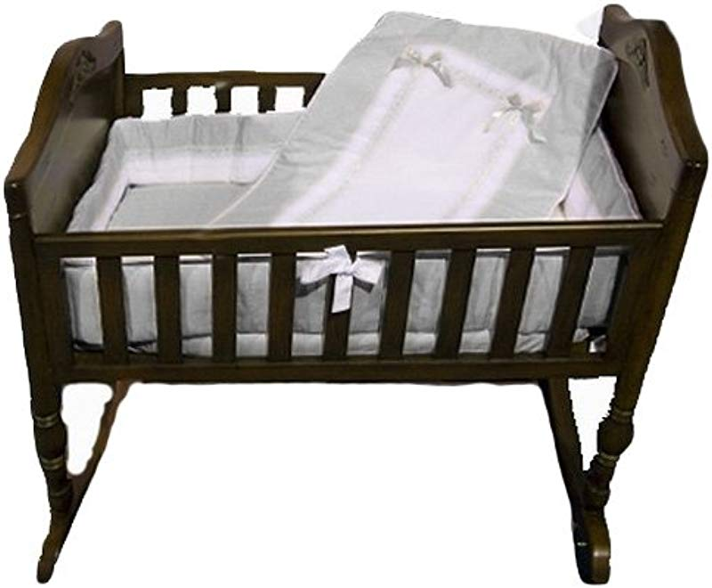 Baby Doll Bedding Royal Cradle Bedding Set Grey