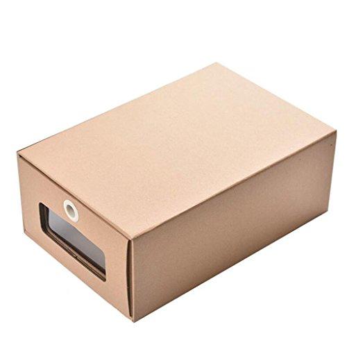 Boîtes de rangement Tiroir Simple Type Kraft boîte à Chaussures en Papier, (6 Pack)