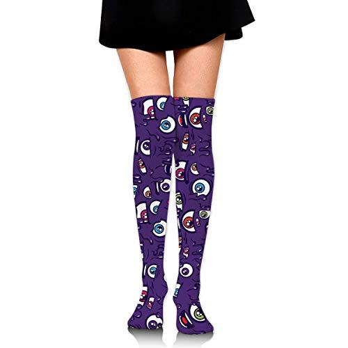 ouyjian Knee High Socks I'm Watching You Long Socks Boot Media Compression Socks For Women