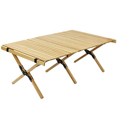 Folding chair Table Pliante en Bois de 4 Pieds, Tables de Camping Qui Se Replient Légères, Belle Table Pliante Portable en Teck - Couleur Bois
