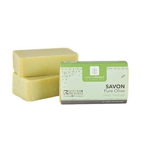 Biologische zeep met olijfolie, parfumvrij. 100 g. Zeep, gemaakt in Frankrijk, koude zeep.