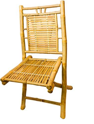 Bambusstuhl, toller Klappstuhl für Haus und Garten. Esszimmer-, Wohnzimmer, oder Terassenstuhl, klappbar, passt dadurch auch in kleinere Küchen