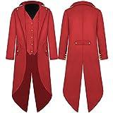 G007RXXL - Chaqueta para hombre, estilo steampunk, estilo victoriano, estilo vintage, con falda a la cintura,...