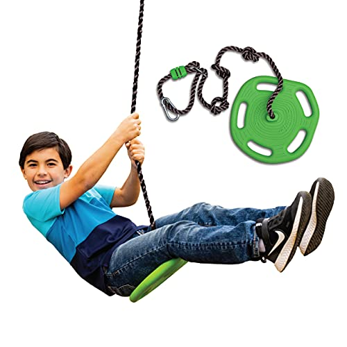 Swurfer Tree Swing Ring 3-in-1 Outdoor Tree Disc Swing Climbing Rope to Sit, Stand and Hang for Kids...