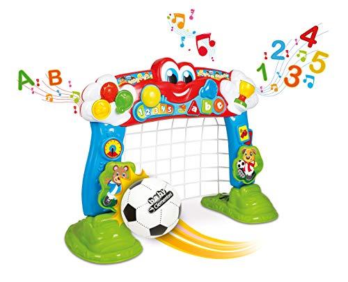 Clementoni 69468 Interaktives Fußballtor, 2in1 Spielzeug für Kinder, Ballspiel für Motorik und Spracherwerb, fördert Bewegung & Aktivität bei Kleinkindern ab 18 Monaten