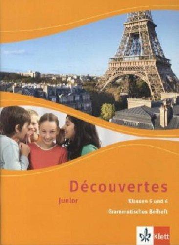 Découvertes. Junior für Klassen 5 und 6: Grammatisches Beiheft (Doppelband) 1./2. Lernjahr (Découvertes. Junior (ab Klasse 5))