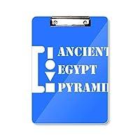 古代エジプトピラミッド フラットヘッドフォルダーライティングパッドテストA4