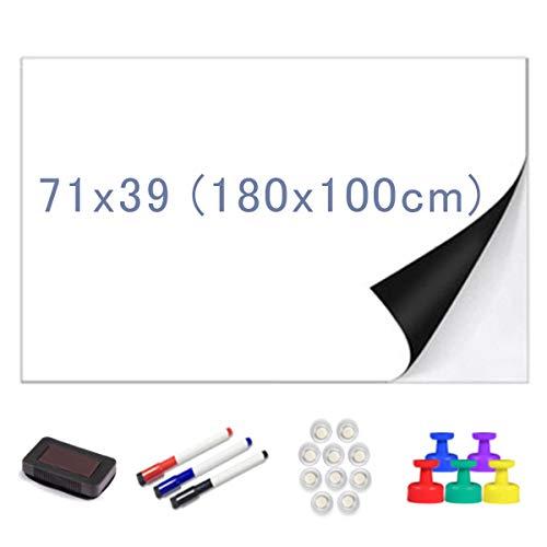 Papel de pizarra blanca gruesa Etiqueta adhesiva de borrado en seco magnética...