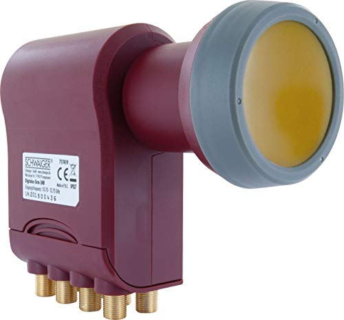 SCHWAIGER -717419- Octo LNB con protección solar | 8 participantes | tapa de LNB extremadamente resistente al calor | multialimentación adecuada con protección climática y contactos dorados