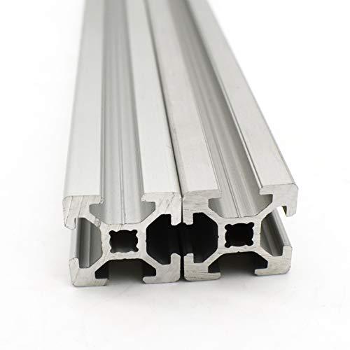 Profilé en aluminium - Rainure 6 - 20 x 20 mm - 600 mm