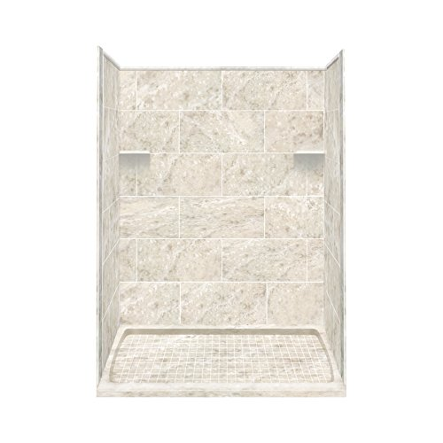 """Transolid RKWF6007L-92S Remodel Alcove Shower Kit Left-Hand, 30"""" x 60"""" x 75"""", Silver Mocha"""