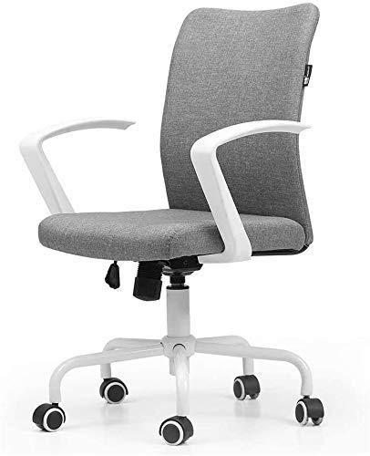 GAOTTINGSD Chaise de Bureau en Maille Respirante Modern Stoff Low Back Office Schreibtisch Stuhl Aufgabe Computer Stuhl Mit Einstellbarer Höhe for Den Empfang Dinning Konferenzraum