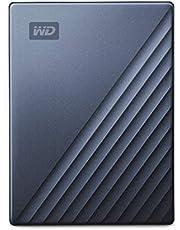 WD ポータブルHDD 5TB USB Type-C ブルー My Passport Ultra 暗号化 パスワード保護 外付けハードディスク / 3年保証 WDBFTM0050BBL-WESN