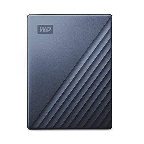 WD ポータブルHDD 2TB USB Type-C ブルー My Passport Ultra 暗号化 パスワード保護 外付けハードディスク / 3年保証 WDBC3C0020BBL-WESN
