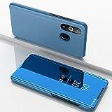 F&a® Spiegel Überzug Flip Hülle für Samsung Galaxy A8s/Samsung Galaxy A50/Samsung Galaxy A30/Samsung Galaxy A20 (Himmelblau)