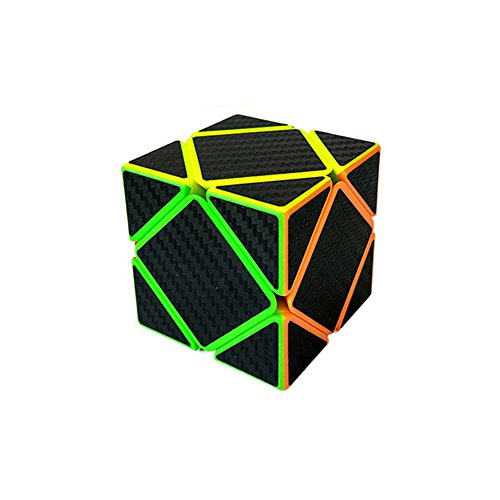 Wings of Wind - Speed Skewb Cubo mágico de Fibra de Carbono Pegatina Cubo Twisty Rompecabezas para el Desarrollo de Inteligencia (Skewb)