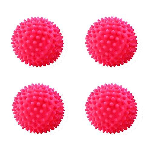 rosepartyh Bolas de Secadora de Ropa Pelota Lavadora Lavado Reutilizables 4 Piezas Dryer Balls Secado Rápido Antifoldante Reducción Estática Suavizante de Telas