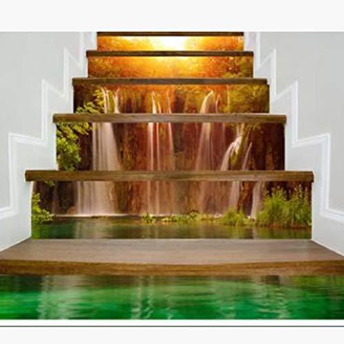 Escaleras pegatinas Pegatina de escalera 3D Books / Patrón de cascada Autoadhesivo Inicio Inicio Resturant Café Bar Sala Decoración Decoración Impermeable Pegatinas Pegatinas 791 ( Color : Waterfall )