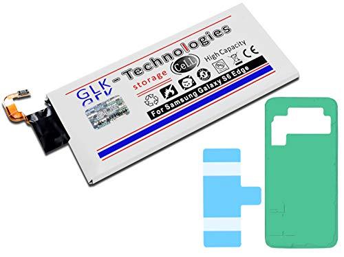 High-Capacity Ersatzakku für Samsung Galaxy S6 Edge SM-G925F / EB-BG925ABE | Original GLK-Technologies Battery | accu | 2800 mAh Akku | inkl. 2X Klebebandsätze
