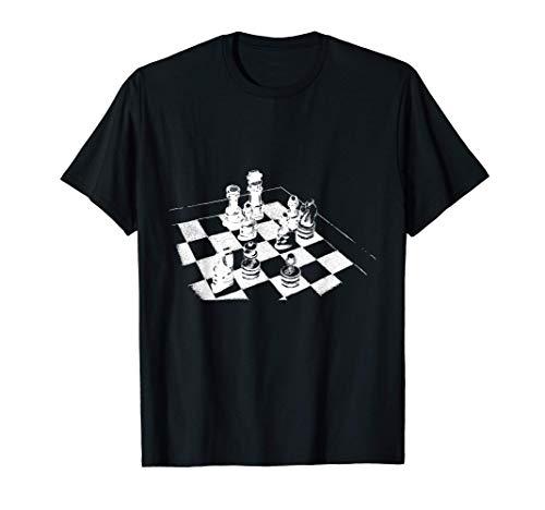 Schachspieler Schachfigur König Läufer Schach Schachmatt T-Shirt