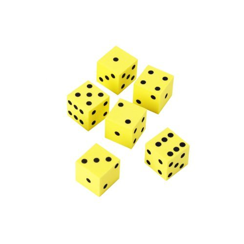 6 x Learning Resources 16mm Foam Dot Dice