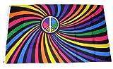 Fahne / Flagge Peace Zeichen Regenbogen NEU 90 x 150 cm