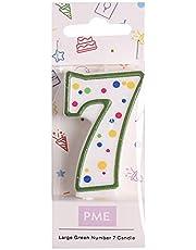 PME Grönt nummer 7 ljus, stor storlek