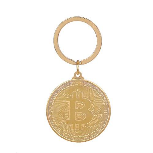 bester Test von wo am bitcoin kaufen VORCOOL Bitcoin-Schlüsselbund Ein glänzender Metall-Schlüsselbund mit einem physischen Bitcoin…