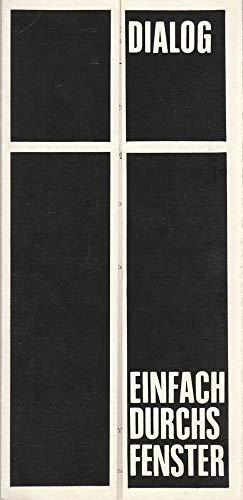Programmheft Miroslav Hornicek EINFACH DURCHS FENSTER 3 Juni 1971 Intimes Theater Spielzeit 1970 / 71