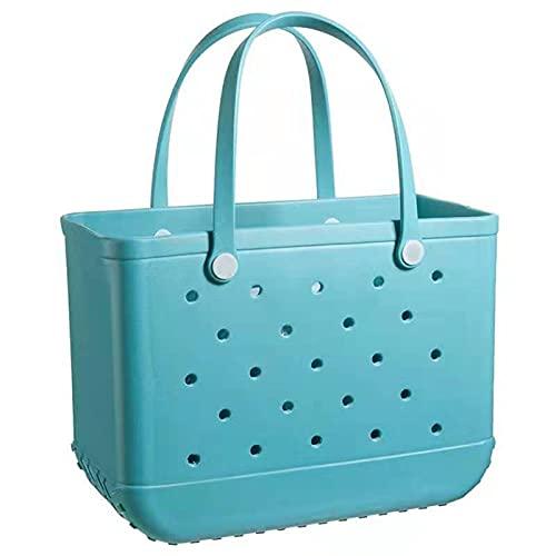 PIANAI Tote-Beach Bag Large Eva Basket Impermeable, Lavable, Duradero, Bolso de Playa para Barco, Piscina, Deportes, Gimnasio
