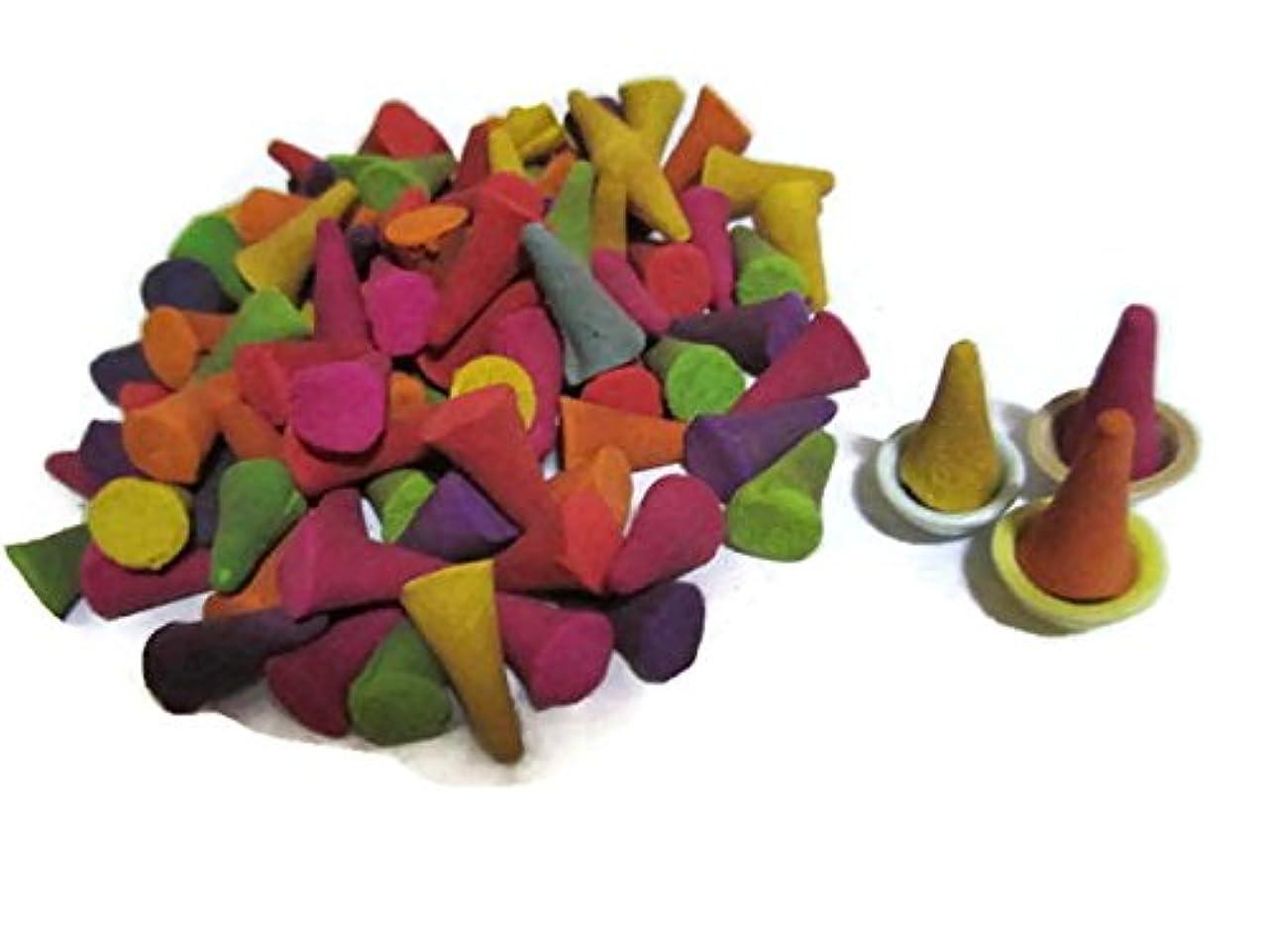 通信する静脈うんIncense Conesミックスのさまざまな香り(パックof 100?Cones )タイ製品