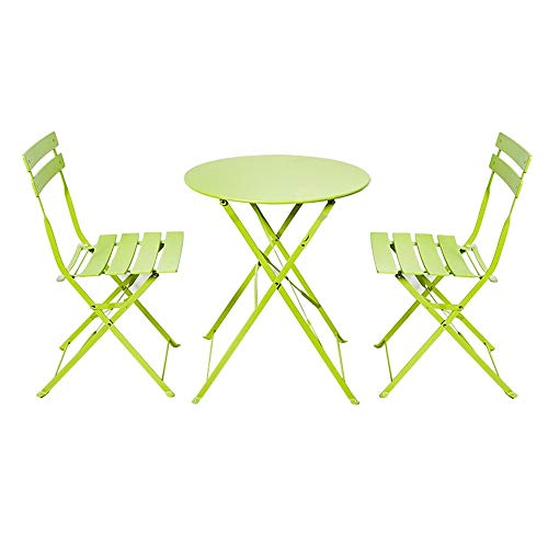 EIU eenvoudige vouwen kleine salontafel buiten binnenplaats ijzer balkon buiten balkon tafel en stoel driedelige vrije tijd eenvoudig (tafel, twee krukken) W1/10