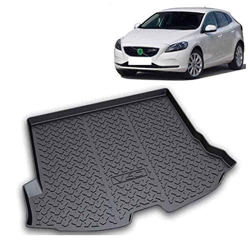 Coche Goma Alfombrillas Maletero para Volvo V60 2013-2019, Almohadilla Protectora Impermeable Antideslizante Interior Protection Accesorios
