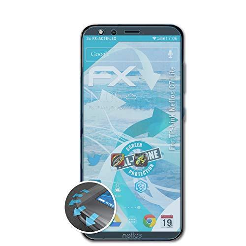 atFolix Schutzfolie kompatibel mit TP-Link Neffos C7 Lite Folie, ultraklare & Flexible FX Bildschirmschutzfolie (3X)