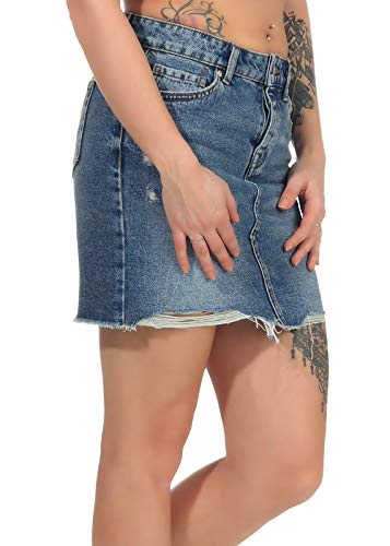 Only onlSKY REG DNM Skirt BB PIM992 Noos Falda, Mezclilla De Color Azul Claro, Talla del Fabricante: 36 para Mujer