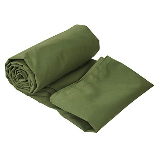 Bkisy 12ft x 20ft Olive Drab Canvas Tarp Heavy Duty 18 oz Cotton Material Tarpaulin Tarp Waterproof and Breathable for All Purpose