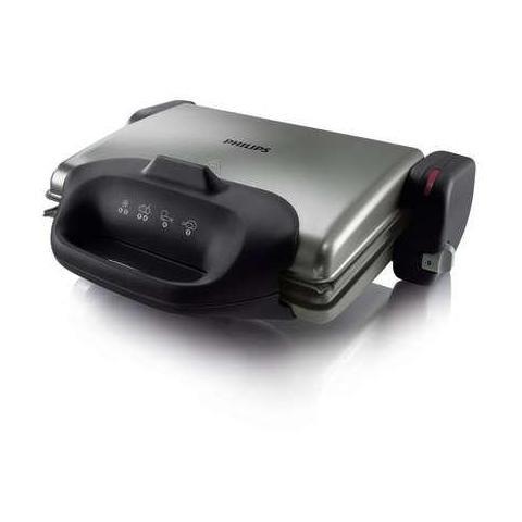 Philips HD4467/90parrilla Potencia 2000W Color Plata/Negro