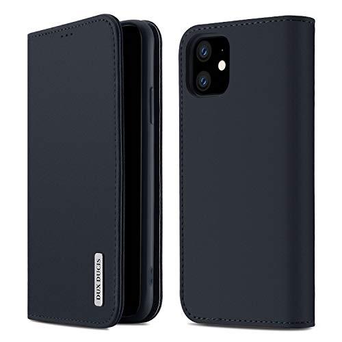 【WISH Series 高級牛革】iPhone 11 ケース 手帳型 本革 アイフォン 11 カバー 全面保護 磁石付き カード入れ スタンド機能 耐衝撃 耐摩擦 人気 おしゃれ ギフトボックス付き ワイヤレス充電に対応(iPhone 11 ネイビーブル
