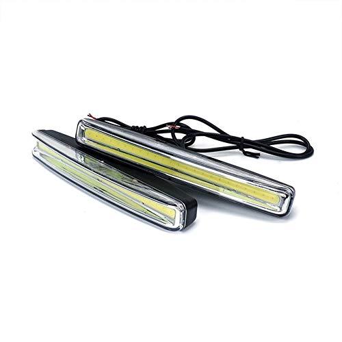 LED de luces de circulación diurna 12V DC impermeable auto del coche DRL COB conducción de faros antiniebla 2pcs Car Styling ultra brillante Luz trabajo de coches (Color : As picture)