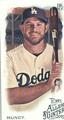 2019 Topps Allen and Ginter Base MINI #143 Max Muncy Los Angeles Dodgers Official MLB Baseball Trading Card (very small size)