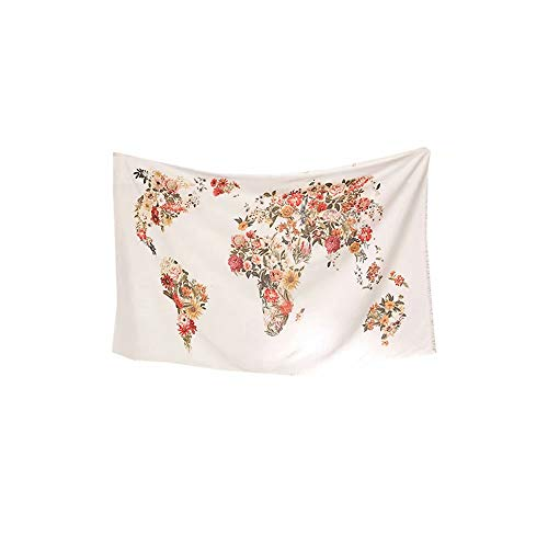 Creative INS Wind Tapestry Urban Outfitters Print World Map Style Horizontal Wall Decoration New