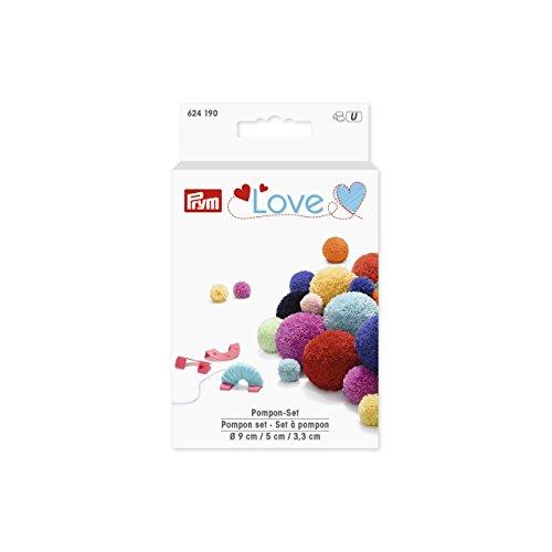 Prym Love Pompon Set, Kunststoff, Mint, pink, blau, One Size PRYM_624190-1