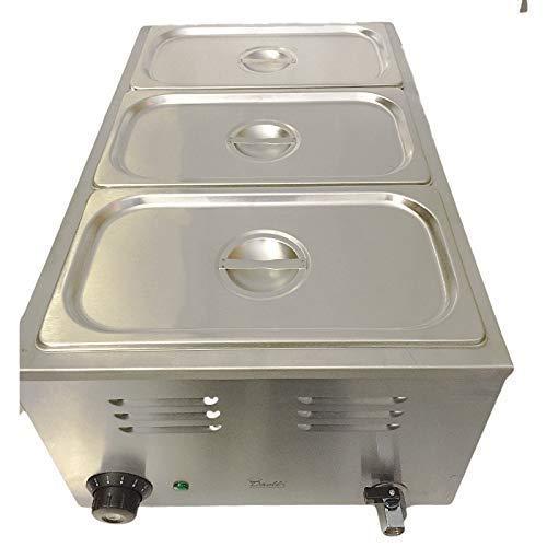 Bain Marie Commercial, 3 Pots, Electrique, Sauce ou Nourriture, Chaud, Bain Marine & Casserole Gastro