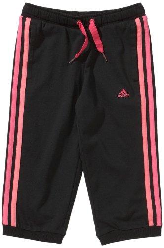 adidas - Pantalones para niña, tamaño 140 UK, Color Negro/Joy Rosa