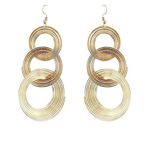 FWQW Hoops Earrings for Women Sterling Silver Earrings Multilayer Hoop Earrings Hypoallergenic Hoops Earrings Circle Dangle Drop Earring for Women