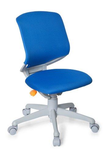 HJH OFFICE kinderbureaustoel/draaistoel Kid Move Voetkruis lichtgrijs blauw/grijs