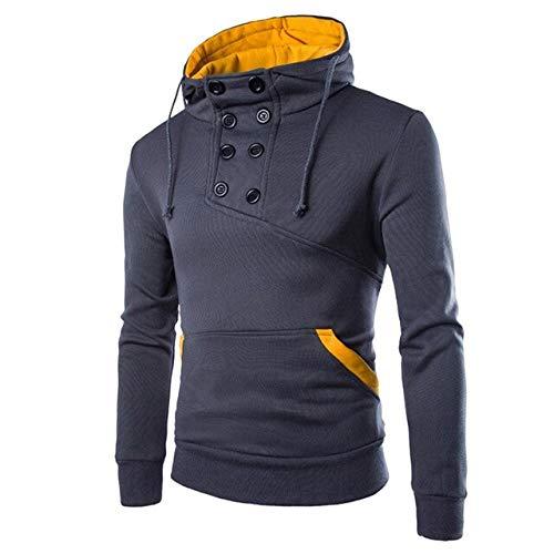 ZCMWY sweatshirt heren lente herfst hoodies heren lange mouwen patchwork hoodie sweatshirt outwear blouse grote maat